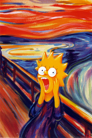 simpson scream art