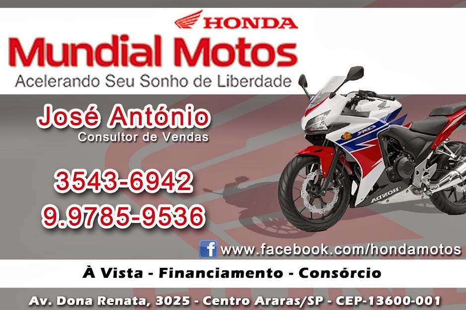 MOTOS HONDA - Araras - SP// José Antonio- 99785-9536