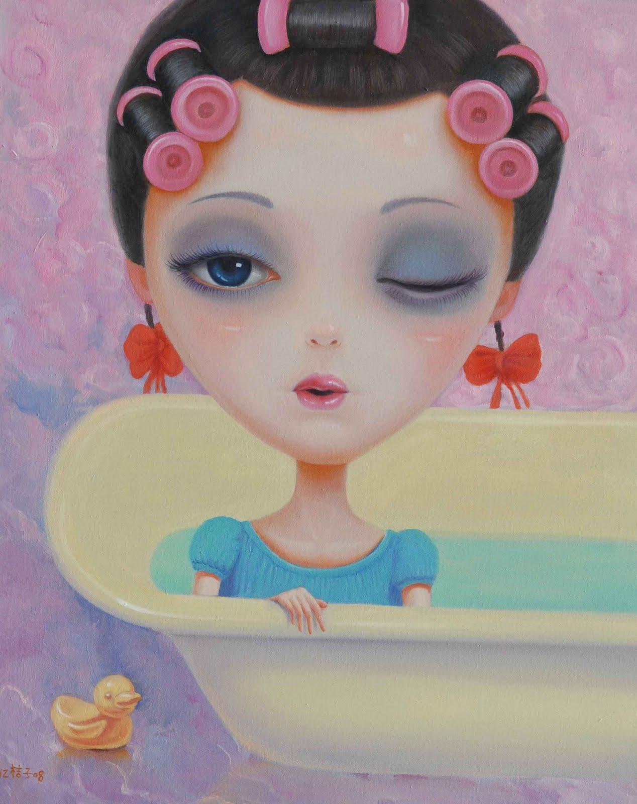 En el baño - Página 4 Chen+Hongzhu,Princess+Recuperating,100x80cm(5136)