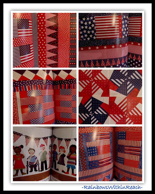 """Red, White and Blue"" by Debbie Clement {Quilted Illustrations from Fabric}"
