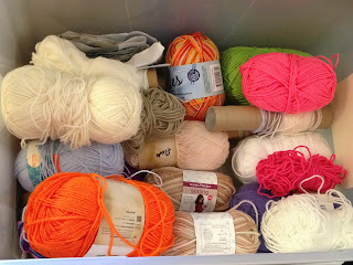 My first stash of crochet yarn