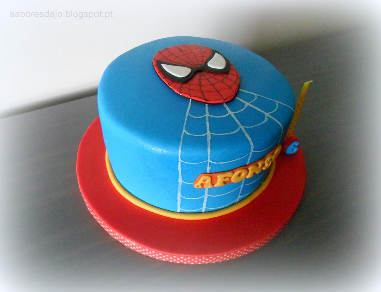 Sabores da jo bolo e bolachas com o tema homem aranha para bolo e bolachas com o tema homem aranha para celebrar os 6 anos do afonso altavistaventures Gallery
