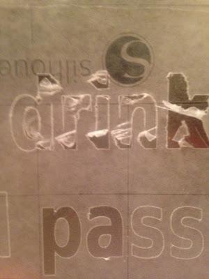 Silhouette cut Freezer paper stencil