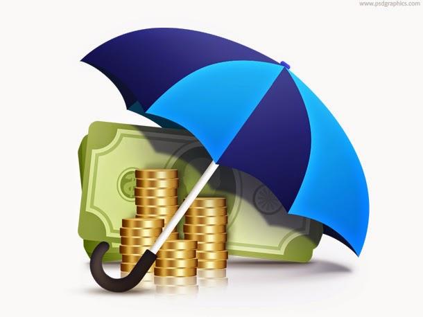 Money Under Umbrella PSD