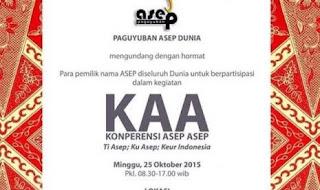 Pemilik Nama Asep Gelar Konferensi di Bandung