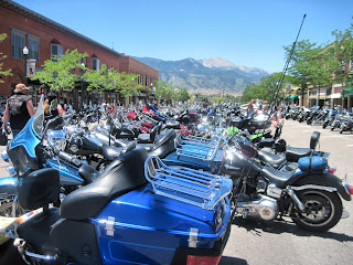 Tejon Street Bike Fest - Pikes Peak in the background