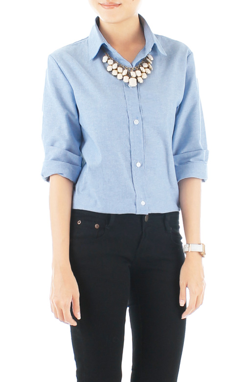 Preppy Light Denim Shirt