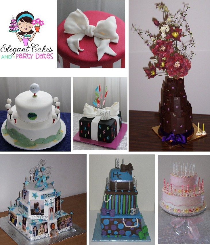 Elegant cakes and party dates 21st birthday cake ideas for 21st cake decoration ideas