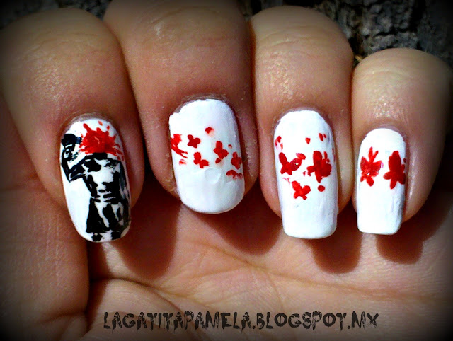 blood splatter nails