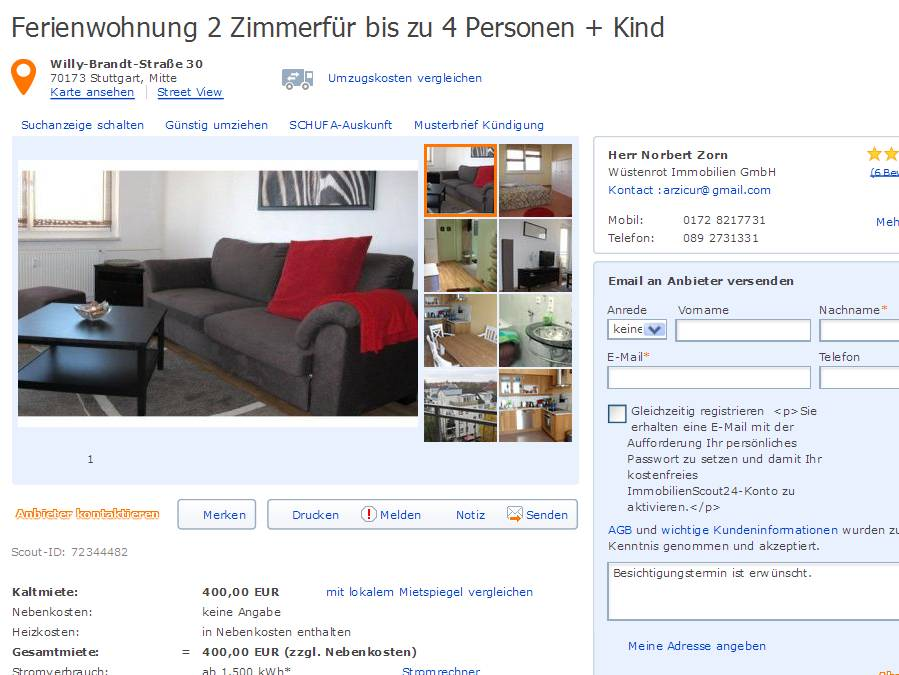 arzicur alias conny zorn im gehackten makleraccount auf. Black Bedroom Furniture Sets. Home Design Ideas