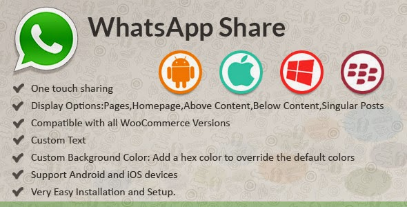WhatsApp Share v1.0 Premium WordPress Plugin