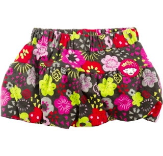 Tuc Tuc Girls Floral Balloon Skirt - Kingdom