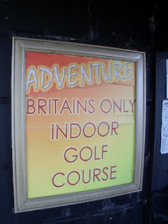 Indoor Adventure Golf course at the Windmill Theatre in Great Yarmouth