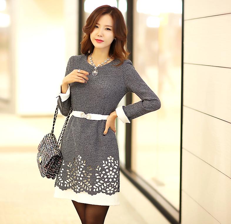 Modelos de vestidos cortos invierno