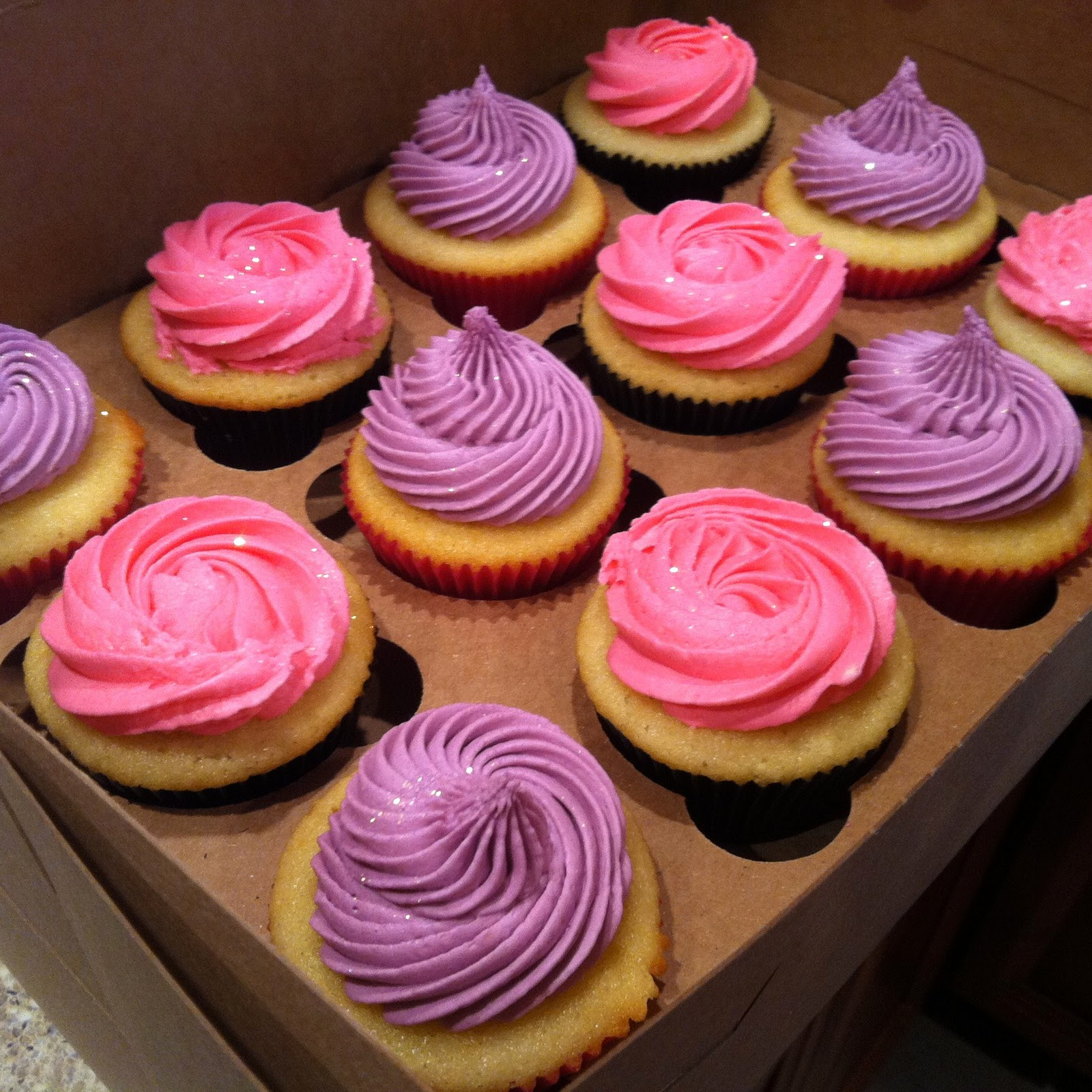 alexas pink amp purple birthday cupcakes bittersweet