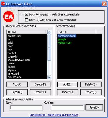 Download EA Internet Filter