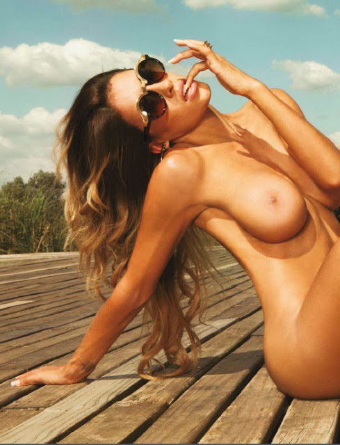 Argentinian hot girl Leonela Ahumada topless Playboy photoshoot