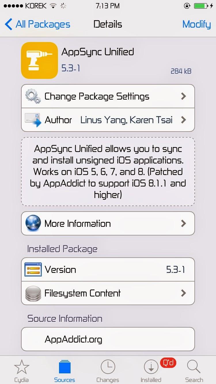 Add Appsync from Cydia