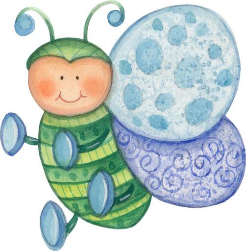 mariposa bebe de color azul para niño