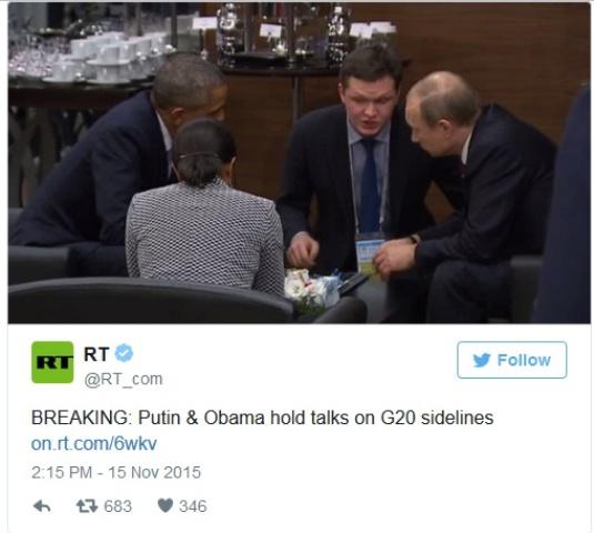 putin meets obama at G20