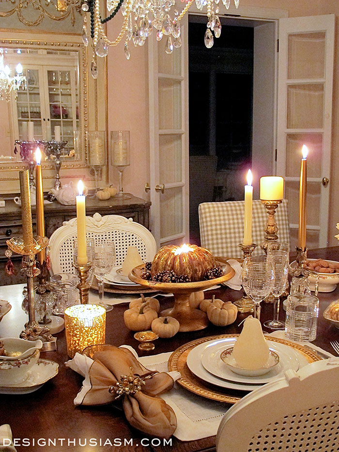 A stroll thru life 293rd inspire me tuesday for Elegant table setting for thanksgiving