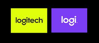 graphic showing logitech rebranding to logi