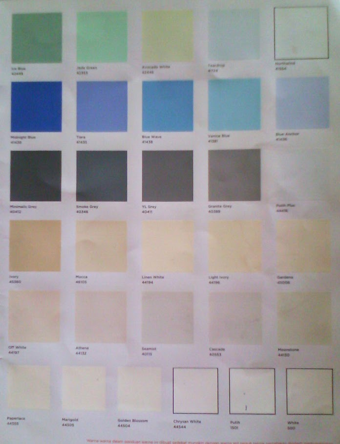 Katalog Warna Cat Dulux Home Catylac Picture