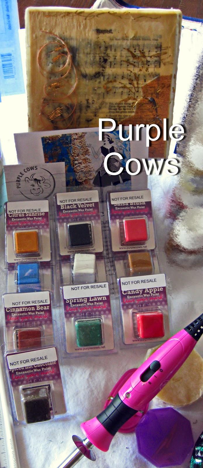 Purple Cows wax and encaustic