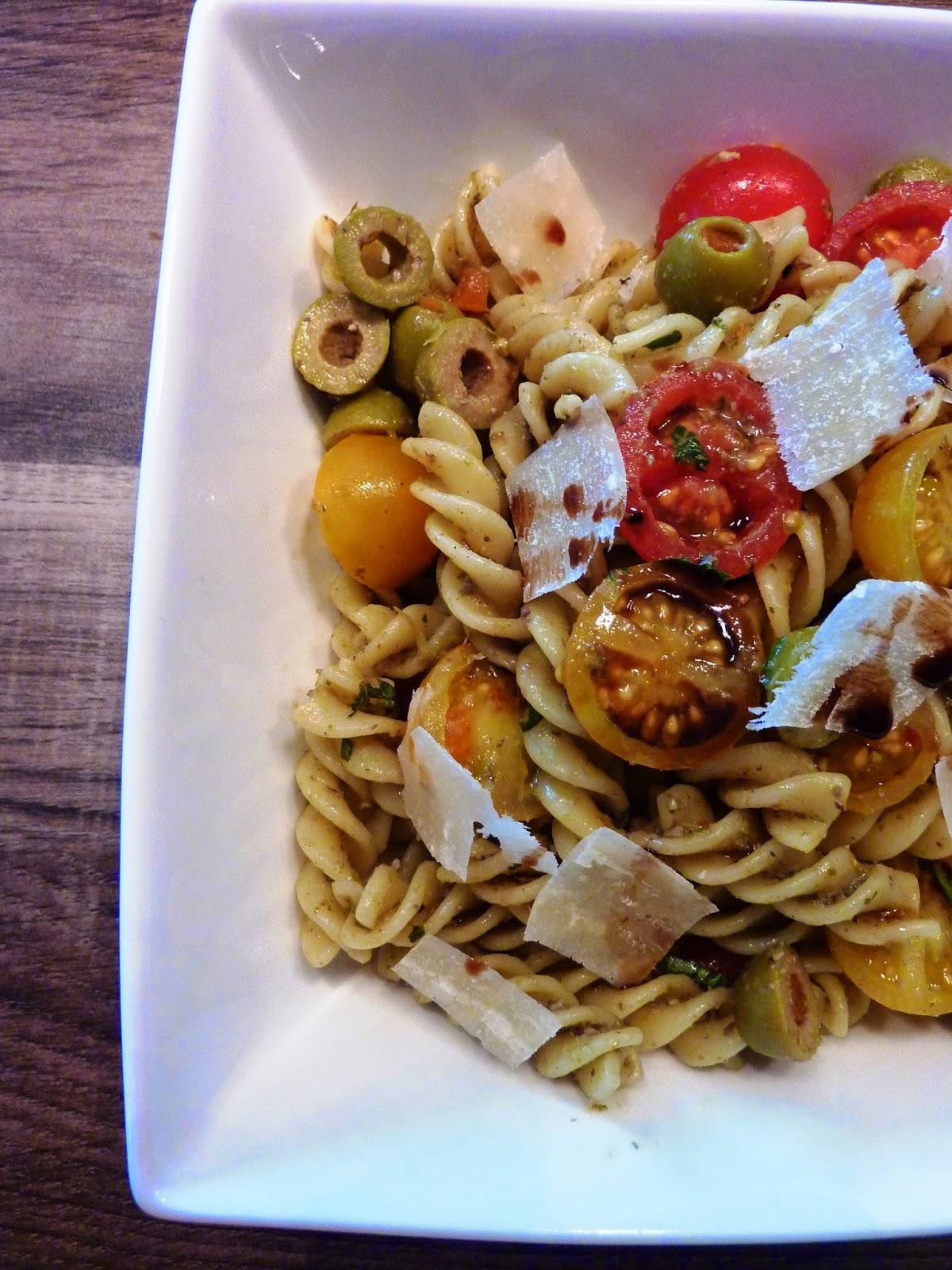 Salade de pâtes au pesto - Recette Weight Watchers Propoint | De ... - Salade Pates Pesto