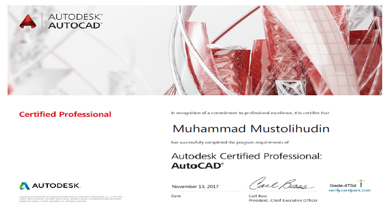 AUTOCAD CERTIFIED PROFESSIONAL
