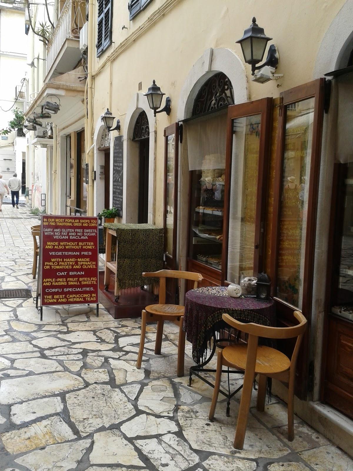 Vegan Olive : Rosy\'s Bakery Paleologou Corfu Town 27th September 2015