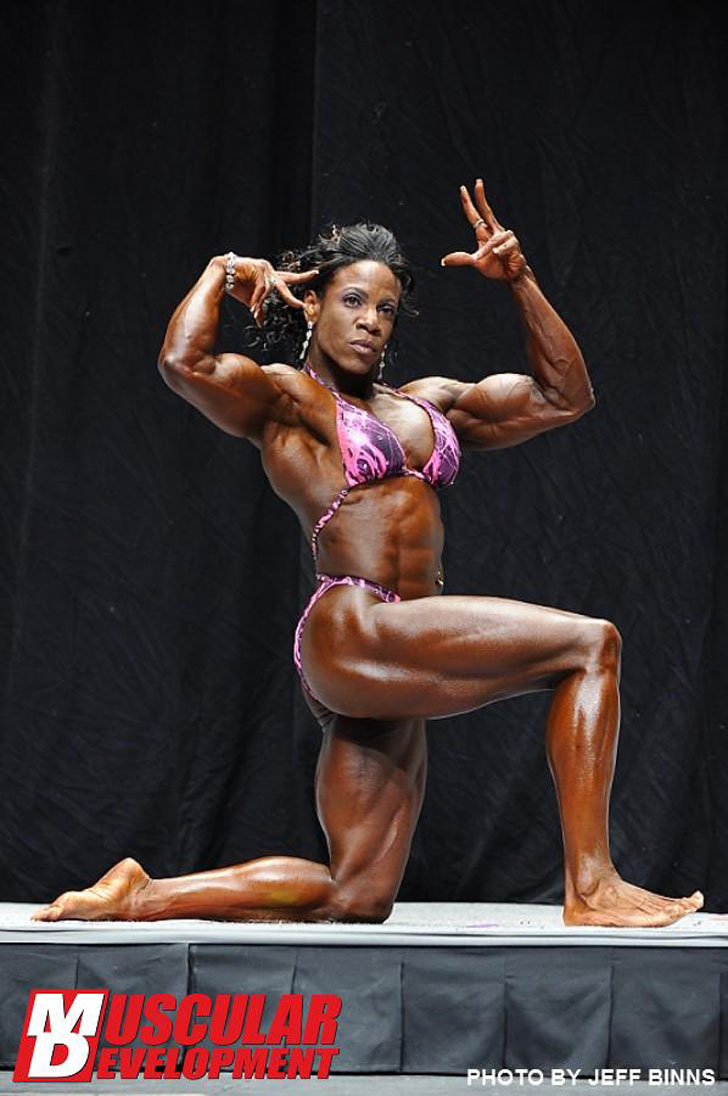 Tierany Chretien Flexing Her Biceps At The 2012 NPC USA Championships