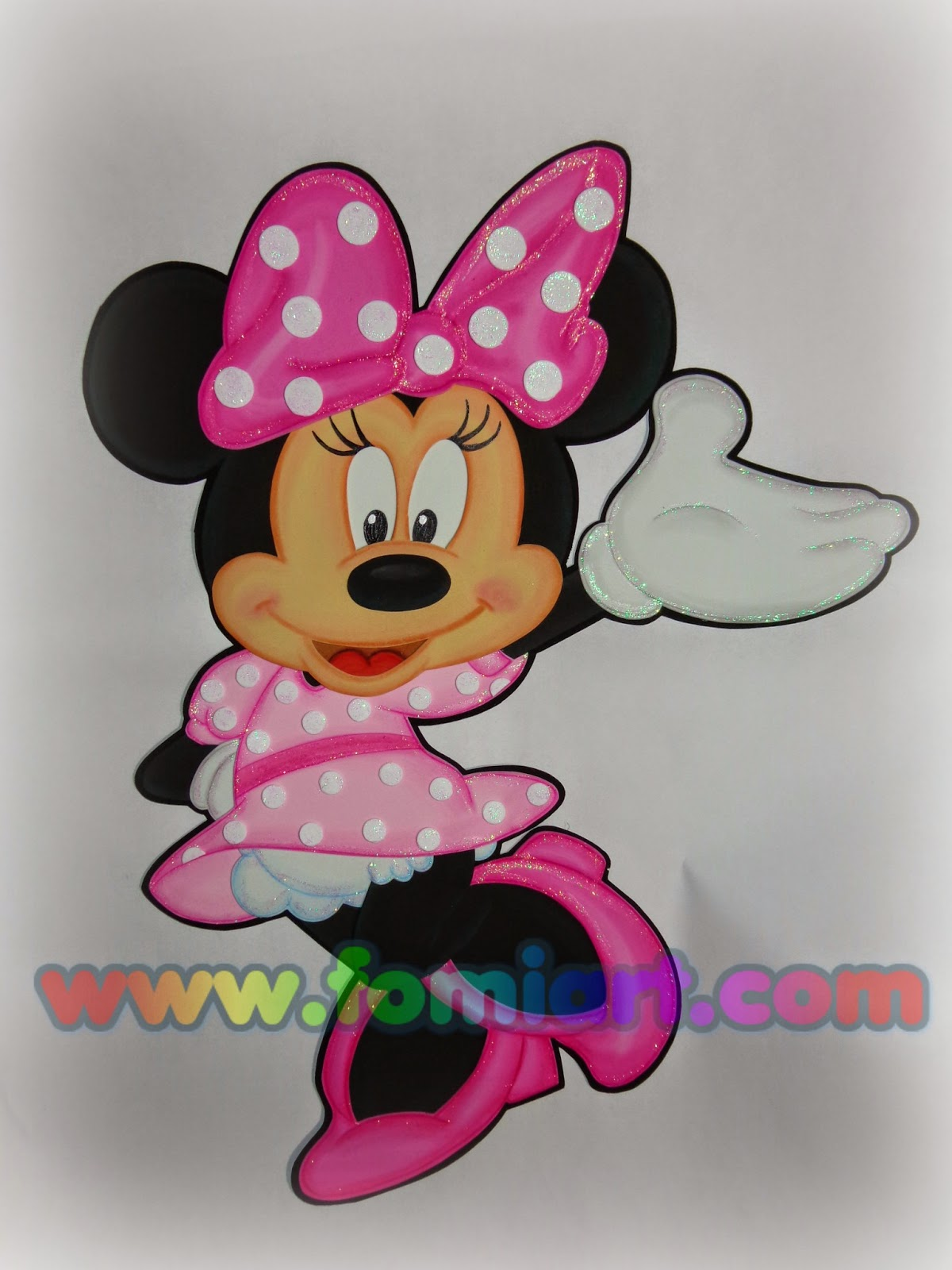 Decorado en fomi de Minnie Mouse