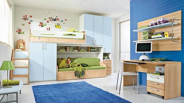 Moderno e clean! Para crianças e adolescentes!! Azul escuro e