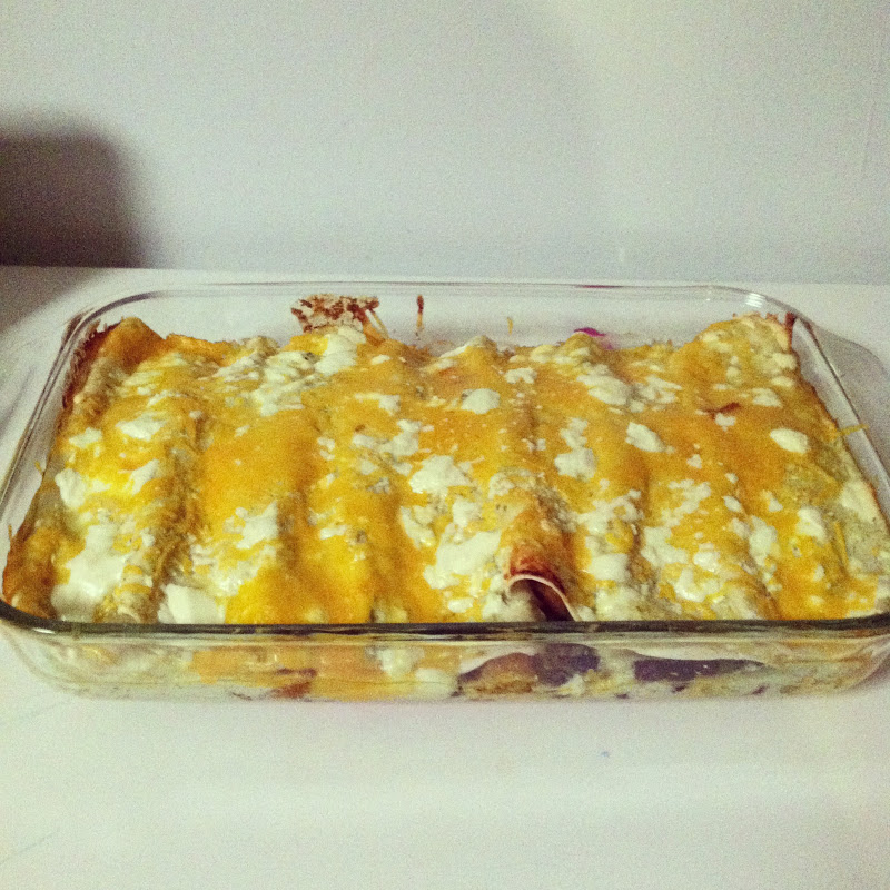 ... and dirty diapers: Roasted Butternut Squash and Black Bean Enchiladas