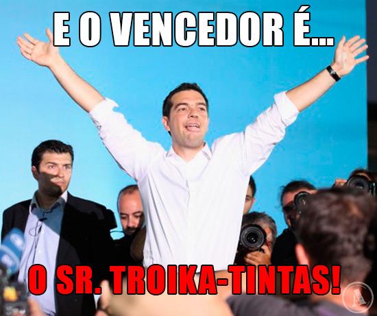Foto de Alexis Tsipras - E o vencedor é… o Sr. Troika-tintas!