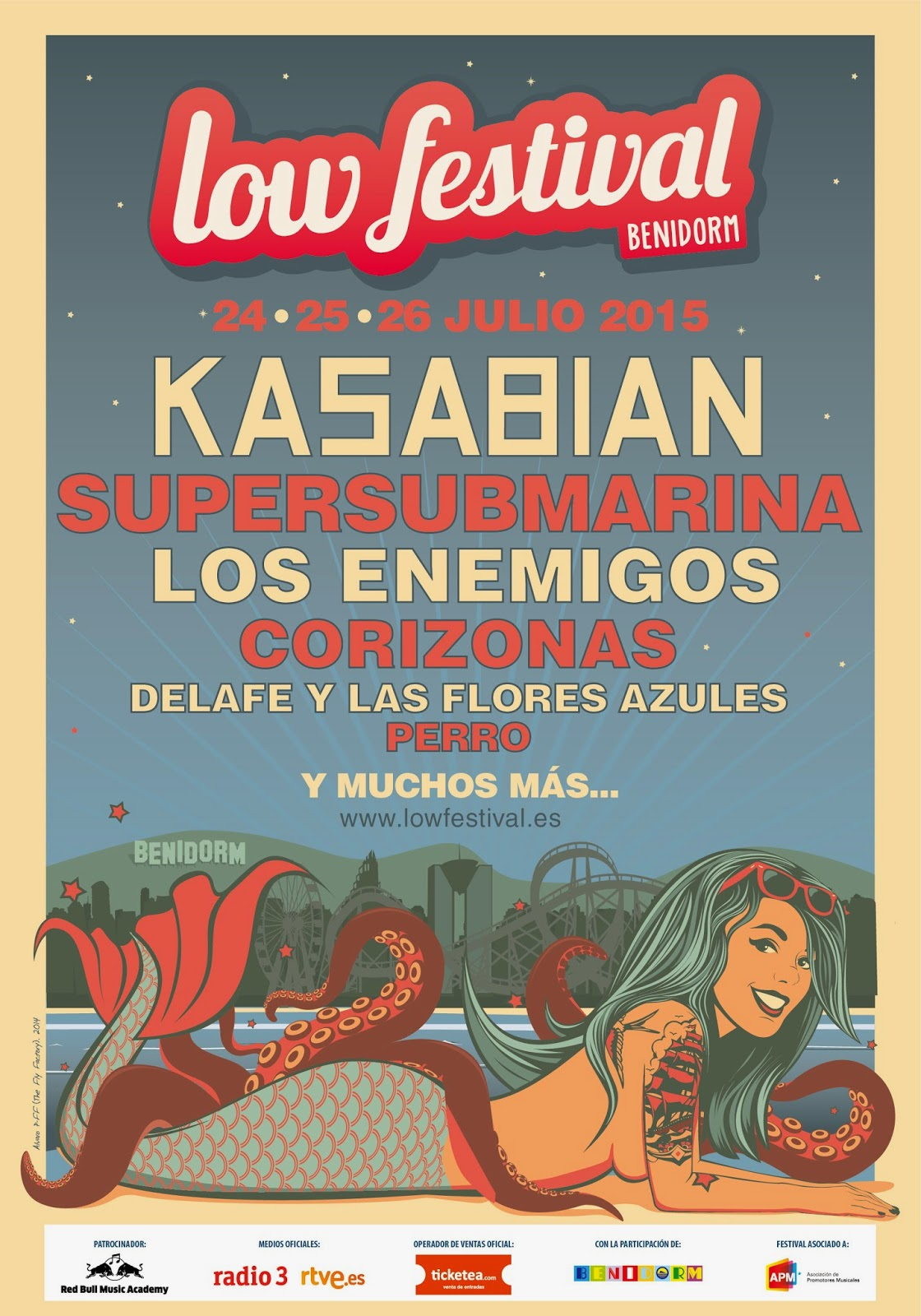 Low, Festival, 2015, cartel, logo, Festival