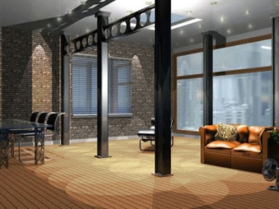 Loft Decoration Design from industrial environments