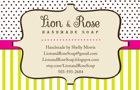 Lion rose handmade soap blog business card i made my first business card so that i have them to give away at the christmas bazaar oh yeahi got a table at the garden home rec colourmoves