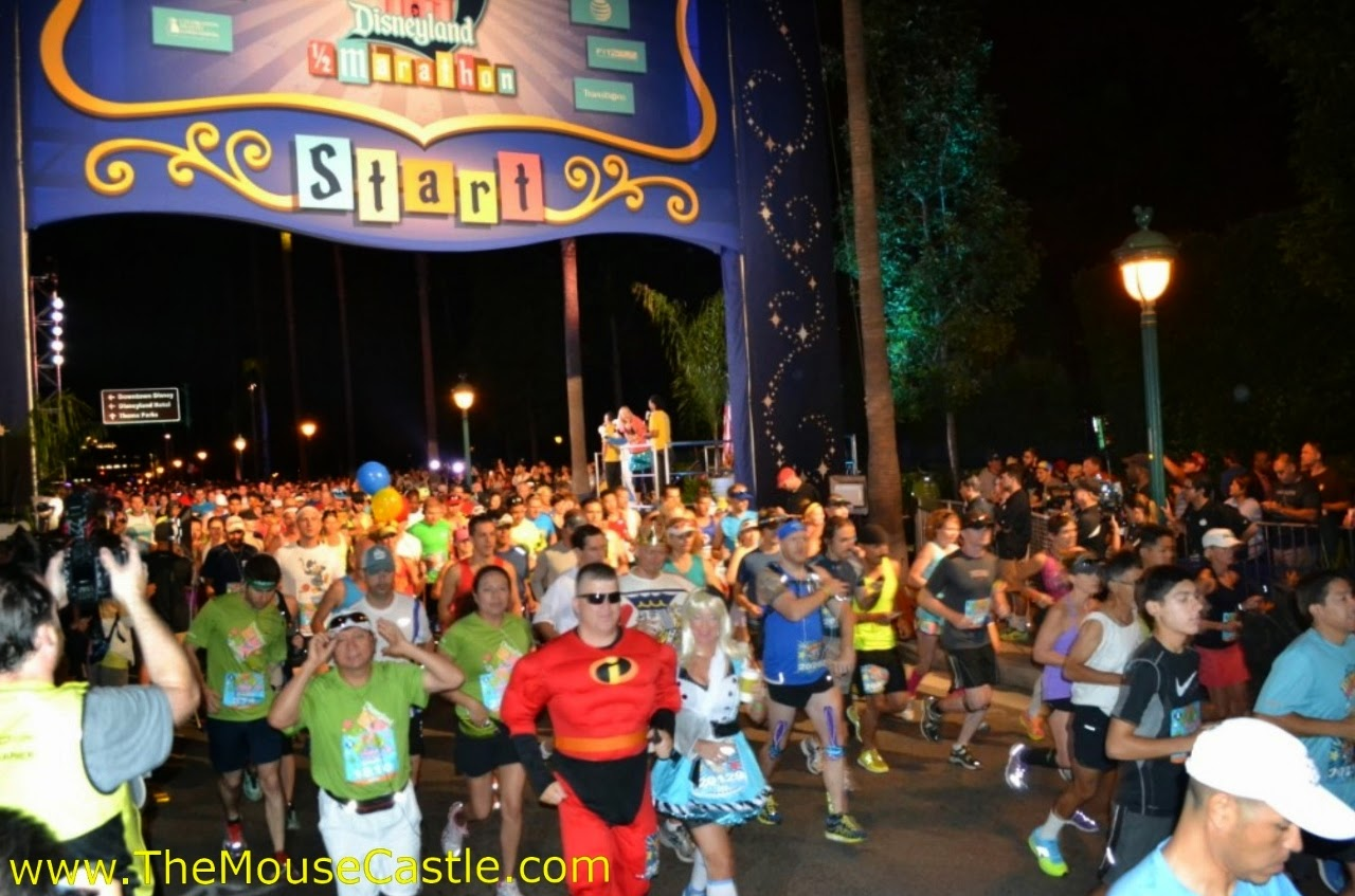 Runners at the start of the 2014 Disneyland Half Marathon