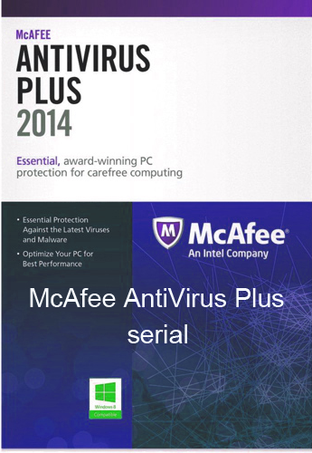 McAfee AntiVirus Plus Serial License Key Keygen Crack