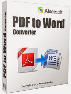 aiseesoft pdf to word converter download