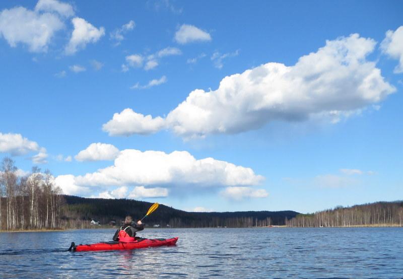 Kajak i Bergomssjön