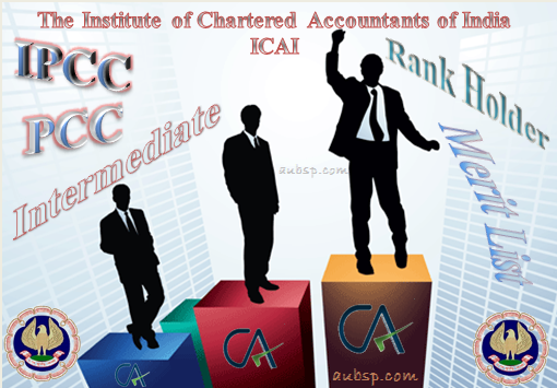 CA IPCC and PCC Toppers