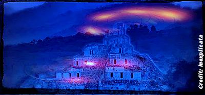UFOs Over Mayan Pyramids