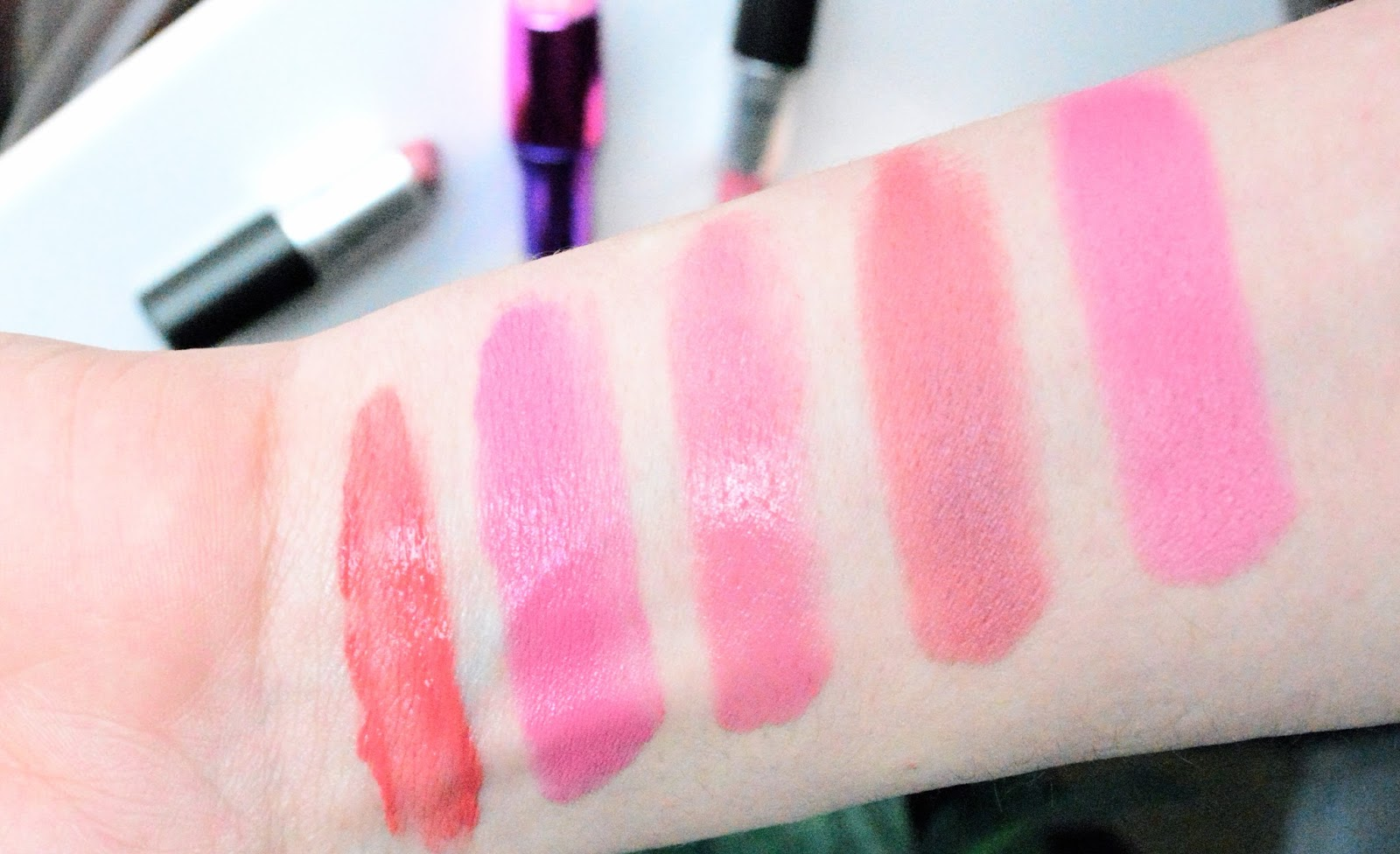 Spring Lipsticks, Mac Brave, Mac Lovelorn, Makeup Revolution, Ken Will Want Me, She's Up All Night, Bourjois Rouge Edition Velvet