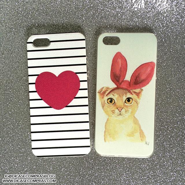 capinhas para iphone aliexpress - gato e coração com listras