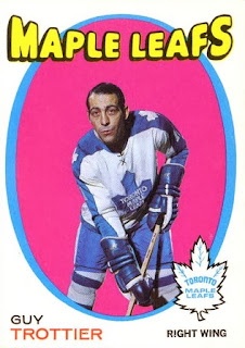 guy trottier toronto maple leafs 1971-72 o-pee-chee hockey card