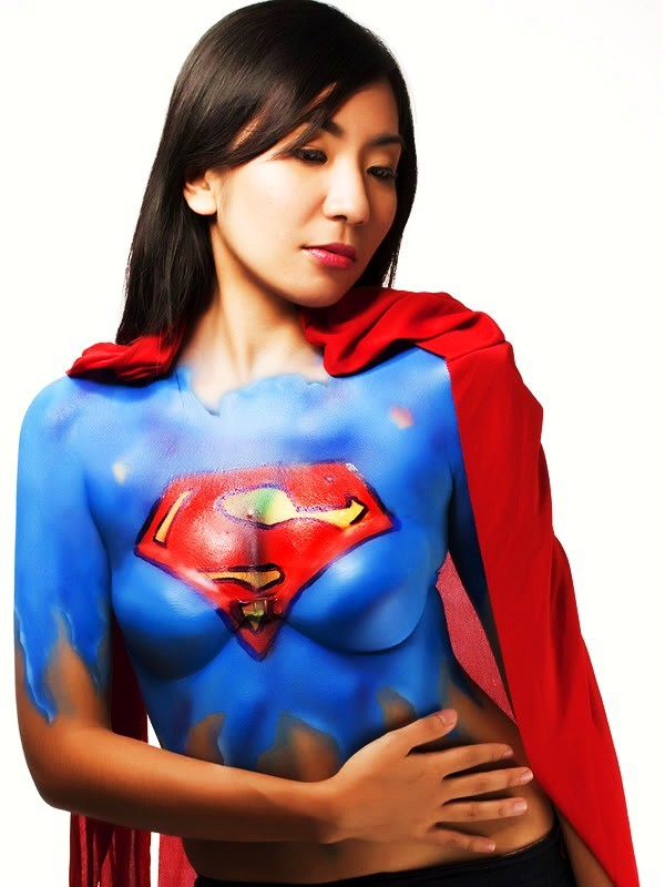 You Sexy supergirl body paint consider