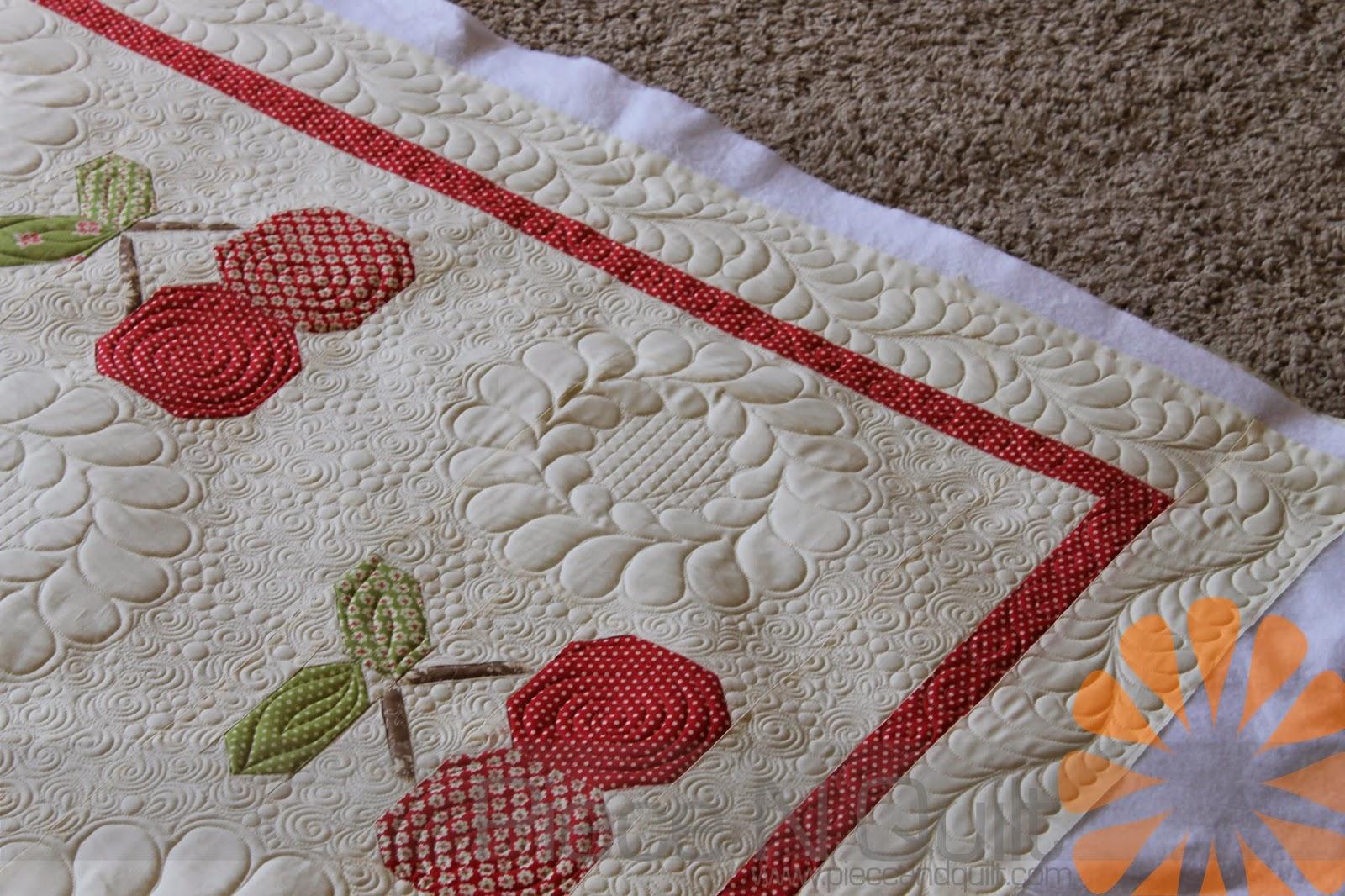 Piece N Quilt: Cherry Pie Quilt - Custom Machine Quilting by ... : piece n quilt - Adamdwight.com